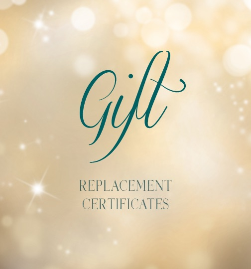Gift Replacement Certificates